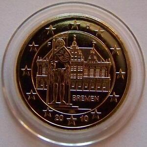 2 Euro Münze Deutschland Bremen 2010 Mit Gold Sehr Selten Ebay