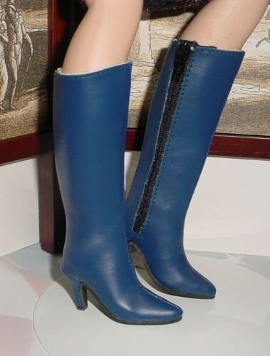 """Custom 64mm zip knee boots for 21/"""" MA CISSY Navy Doll Shoes Dollmore Judith"""