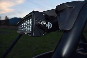 "RZR CAGE MOUNT LIGHT BAR BRACKETS XP 1000 900 S 30/"" CNC CUT POWDER COATED BLACK"