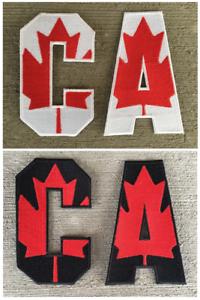 5a544e2e905 Canada Canadian Flag Captain C Alternate A Patch for Jersey Hockey ...