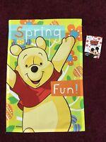 Disney Winnie The Pooh Garden Flag 12 X 18 Free Shipping