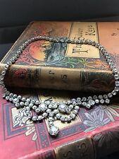 Art Deco Vintage Rhinestone Crystal Necklace