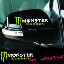 MONSTER ENERGY Sport 2 x Aufkleber Aussenspiegel Spiegel Aufkleber Sticker Weiss