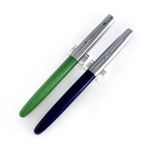 2021 Wing Sung 601 Resin Piston Filling Fountain Pen F 0.5mm Iridium Nib w// Box