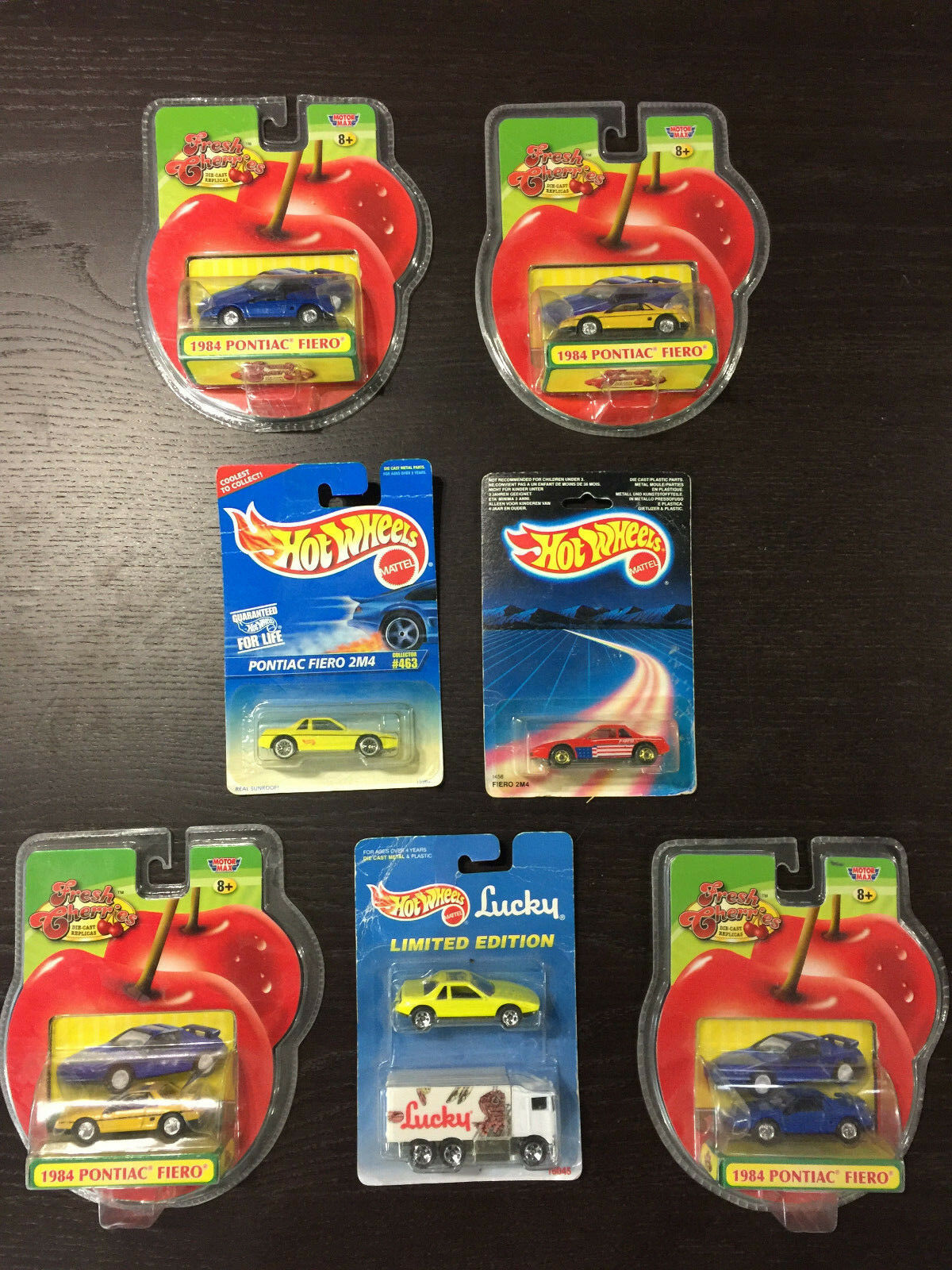 Collection Of Unopened Hot Wheels & Fresh Cherries Pontiac Fiero