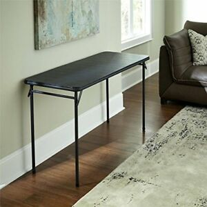 Details About Cosco 20 X 48 Vinyl Top Folding Table Durable Steel Frame Portable