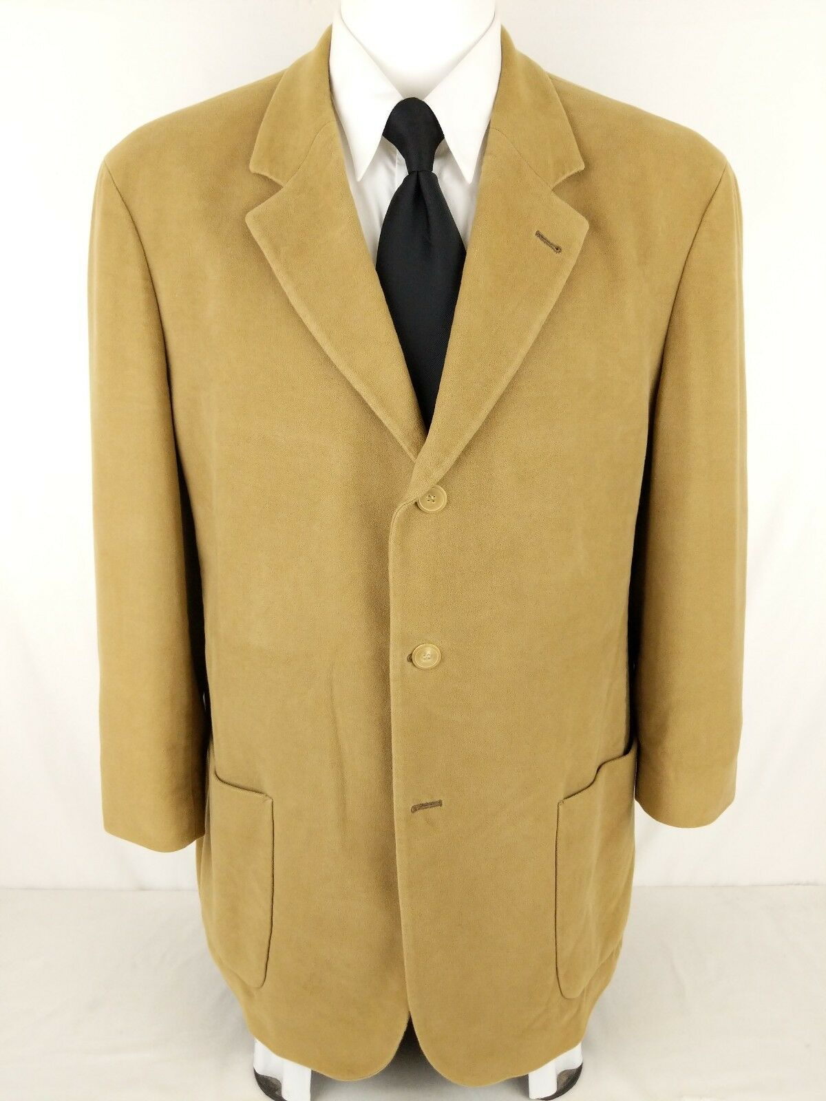 HUGO BOSS SIRRAH 44R Sand Beach Beige Cotton 3 Button Blazer SAKS FIFTH AVE Coat