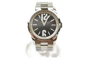 Bvlgari-Watch-ST37S-37mm-Quartz-Men-039-s-Black-X-Silver-1126805