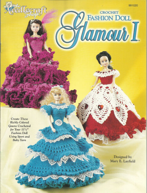 Yarn Crochet Patterns Glamour I To Fit Barbie Dolls The Needlecraft Unique Crochet Clothing Patterns