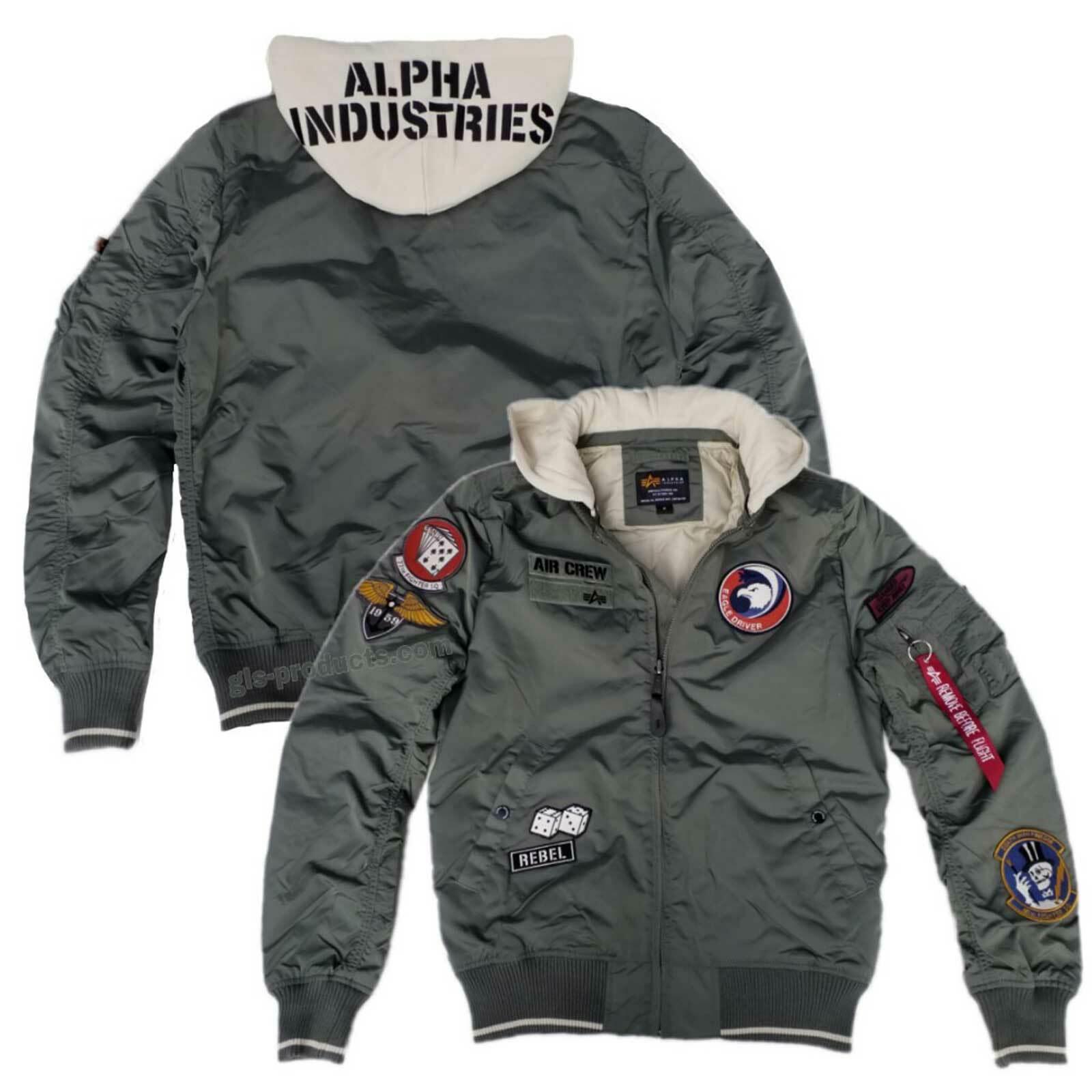 Alpha Industries MA-1 TT Hood Patch Patch Patch 196109 - Air Crew Nylon Kapuze abnehmbar Neu | Creative  a15c7d