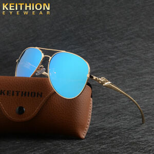 KEITHION-Men-039-s-Polarized-Sunglasses-Trend-Mirrored-Glass-Fishing-Driving-Eyewear