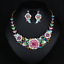 Fashion-Crystal-Pendant-Bib-Choker-Chain-Statement-Necklace-Earrings-Jewelry thumbnail 133