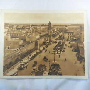 Photo-Flandrin-large-Heliograph-Editions-Mars-78-Cassablanca-La-Place-de-France