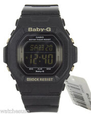 Casio Baby-G  Women's Black Digital Dial Resing  Black Band Watch BG5605SA-1