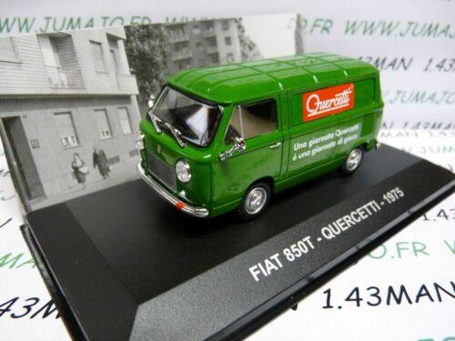 PIT45D 1//43 IXO Altaya Véhicules d/'époque ITALIE FIAT 850T Quercetti 1975
