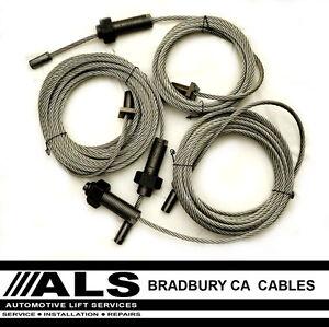 Bradbury CA 40 Series Cables 4 post 3 Tonne vehicle lift ramp ropes