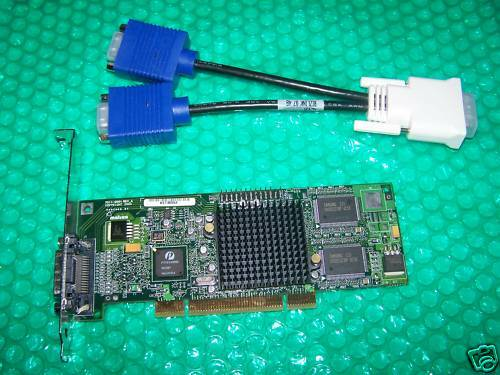 MATROX G550 Dual Monitor Graphics Card with Cable, PCI type, Full Height bracket