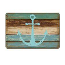 Nautical Anchor Bathroom Rug Decor Beach Mat Ocean Sea Navy Water Blue Home