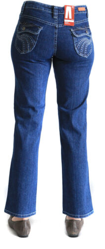 Damen Stretch Jeans Anastasia blue stone washed von Jet-Line Stretchhose Denim