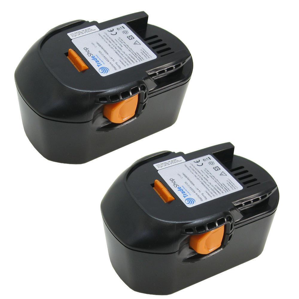 2x Hochleistungs 14,4V Li-Ion Akku 4000mAh für AEG BBM14STX-R BS14X BSB14G BSS14