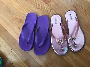 Pair of Girls Michael Kors Flip Flops