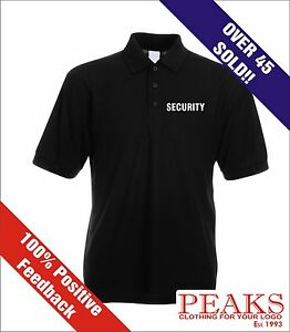 Security Staff Work Polo Shirts Embroidered Front