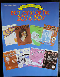 Details about Best Songs of the 20's and 30's Songbook Sheet Music - 20s &  30s Hits