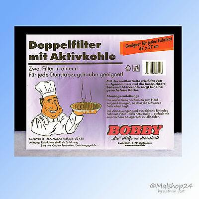 Universal Aktivkohlefilter Dunstabzugshaube 57x47 Fettfilter Kohlefilter Vließ