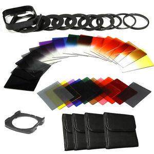 40in1-Graduated-Full-Colour-ND-2-4-8-Filter-Kit-52mm-77mm-Adapter-For-Cokin-P