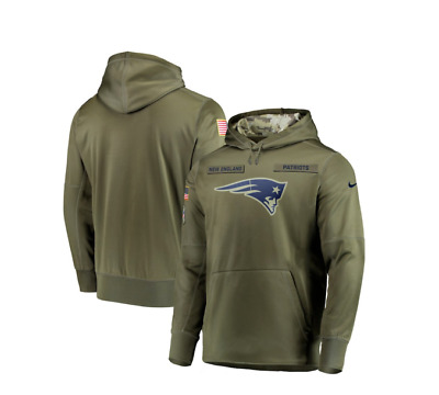 huge discount 92a25 65c83 New England Patriots Olive Salute to Service Sideline Therma Hoodie Limited  | eBay