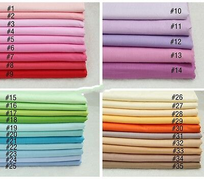 50cm*166CM Solid color 100%cotton fabric Quilting Quilt Clothes Bedding Sewing