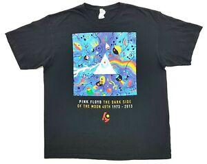 Vintage Pink Floyd Dark Side Of The Moon 40th Tee Black Size XL Mens T-Shirt