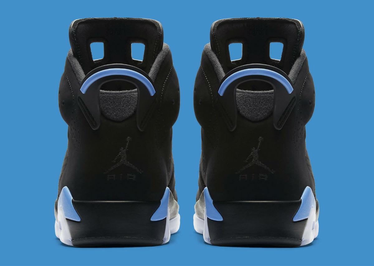 2017 Nike Nike Nike Air Jordan 6 VI UNC Retro Black University bluee Size 13. 384664-006. 10a67e