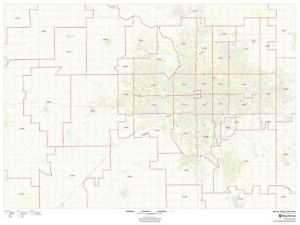 Wichita, Kansas ZIP Codes Laminated Wall Map (MSH) | eBay