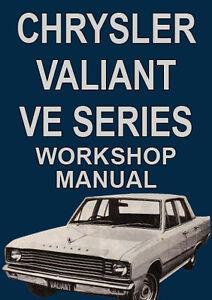 chrysler valiant ve series workshop manual 1967 1969 ebay rh ebay com au vf valiant workshop manual vc valiant workshop manual