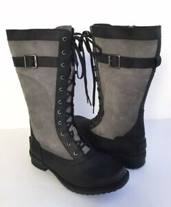 fad71bc9bf8 Details about UGG BRYSTL TALL BLACK WATERPROOF LACE UP BOOT US 12 / EU 43 /  UK 10 - NEW