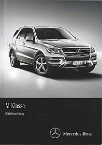 MERCEDES-M-KLASSE-W166-Betriebsanleitung-2013-14-Bedienungsanleitung-Handbuch-BA