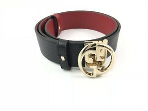 Gucci-Cintura-Belt-Leather-Double-Red-Blue-Usata-Ottima-Originale-100