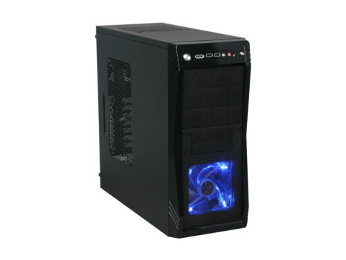 Blue LED Front Fan ATX Mid Tower Rosewill Gaming Computer PC Case CHALLENGER