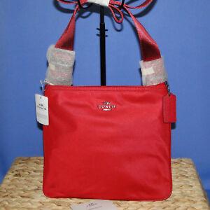 dec1b733e Coach Nylon Crossbody NWT True Red F22346 191202182431   eBay