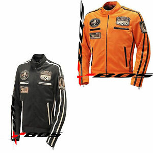 airmesh herren motorrad sommer textiljacke schwarz orange ebay. Black Bedroom Furniture Sets. Home Design Ideas