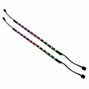 Details about Silverstone LS03 30mm Addressable 12 RGB LED Flexible Light  Strip (2 Strips)