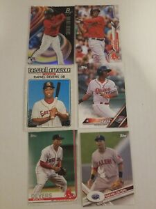 Rafael-Devers-Lot-Of-6-Cards-Boston-Red-Sox-Topps-Bowman-Platinum-Hertiage-RC
