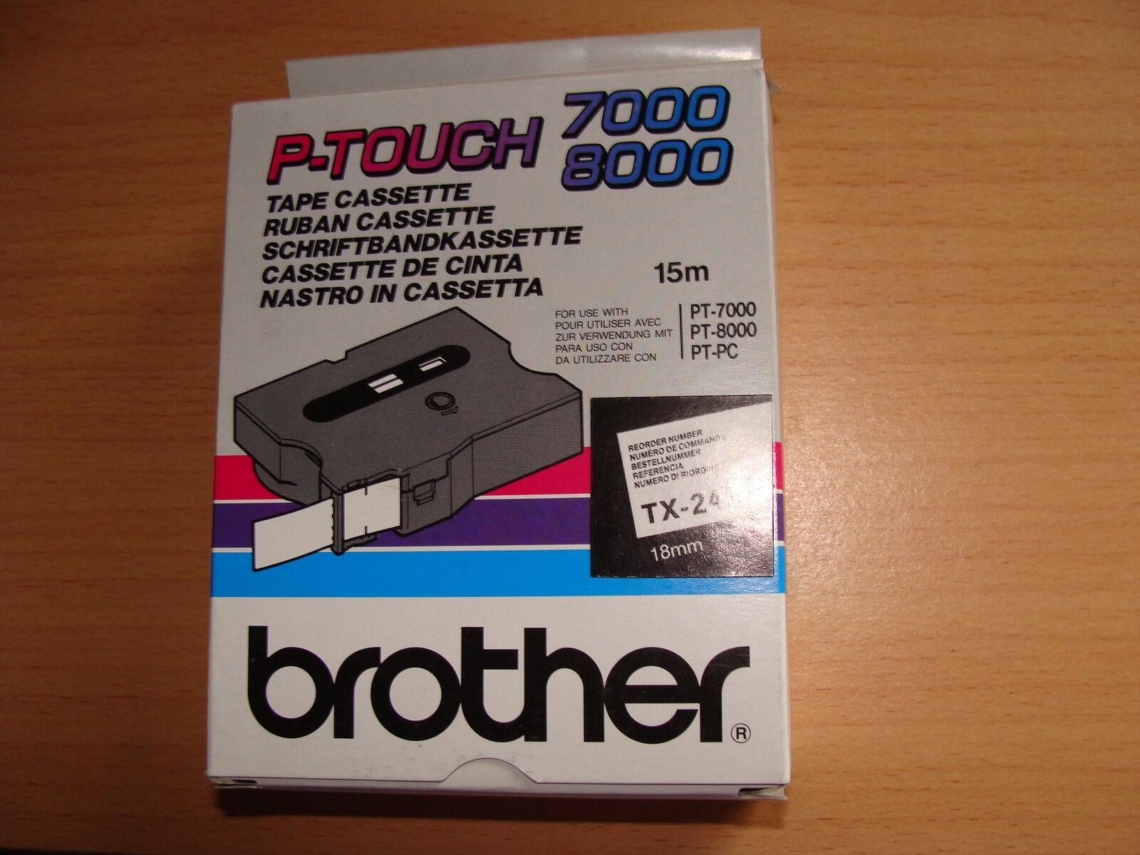PT8000,PT-PC TX-241 Brother Schriftbandkassette schwarz-weiß,18mm 15m PT7000