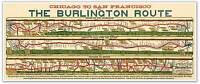 Burlington Route Train Railroad Map Chicago To San Fran Poster Circa 1879 12x30