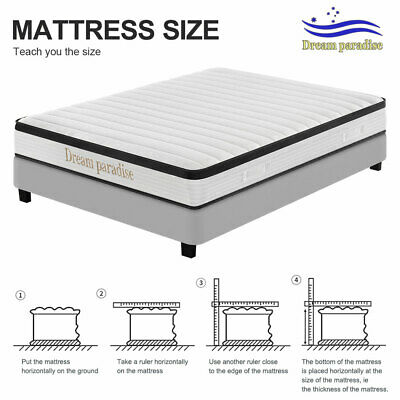Details about  24CM Thick Firm Bedroom Mattress Pocket Spring Pocket Spring Memory Foam 7 Zone