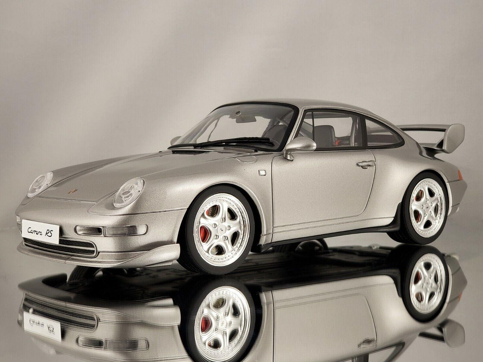 GT Spirit Porsche 911 (993) RS Club Sport 1995 Arctic plata Resina Modelo 1 18