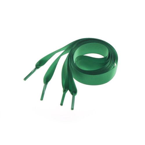 1M length various colors Flat Shoelaces Ribbon Satin Shoe Laces Sport Shoes  MF