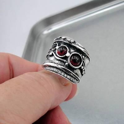 Hadar Designers NEW Handmade Sterling 925 Silver Red Garnet Ring 7,8,9,10 (H 145