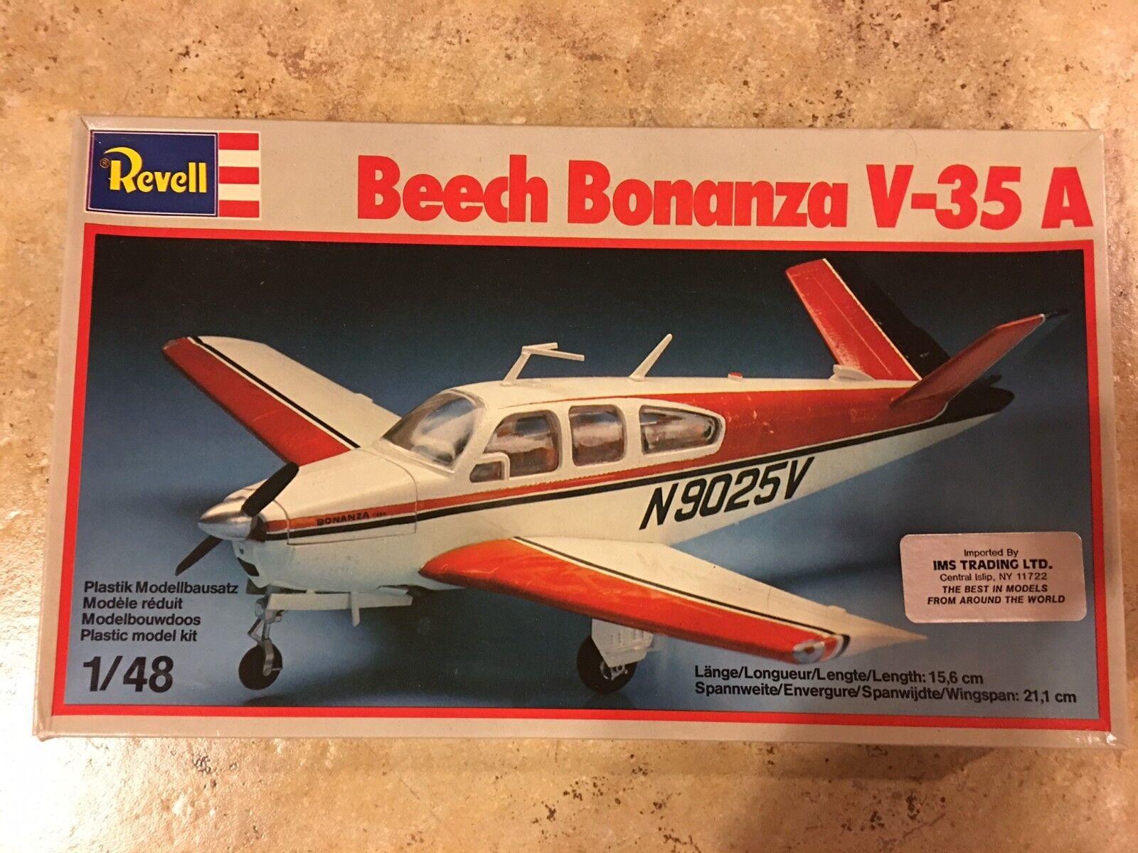REVELL BEECH BONANZA V-35 A 1 48 SCALE MODEL PLANE OPEN BOX PARTS SEALED INSIDE